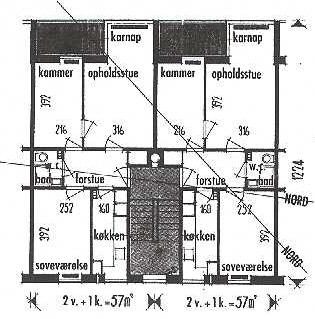 Lejlighedstype fra blok 1.
