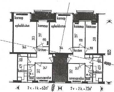Lejlighedstype fra blok 2.