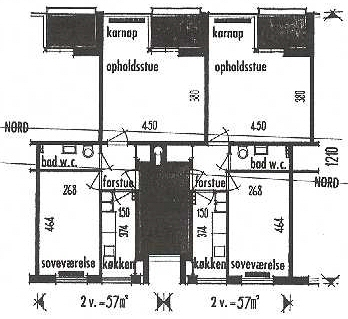 Lejlighedstyper fra blok 3 og 5.