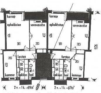 Lejlighedstype fra blok 6.