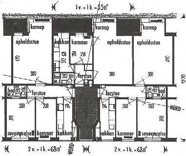 Lejlighedstype fra blok 7 og 8.