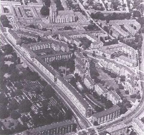 Luftfoto af bebyggelsen 1983.