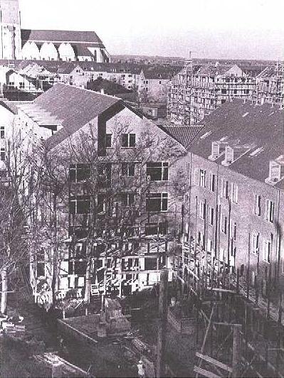 Bispeparken under opførelsen 1940.