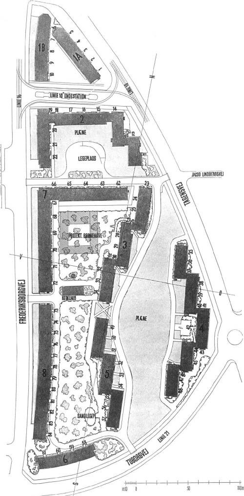 BISPEPARKEN 1940-41 Bebyggelsesplan.