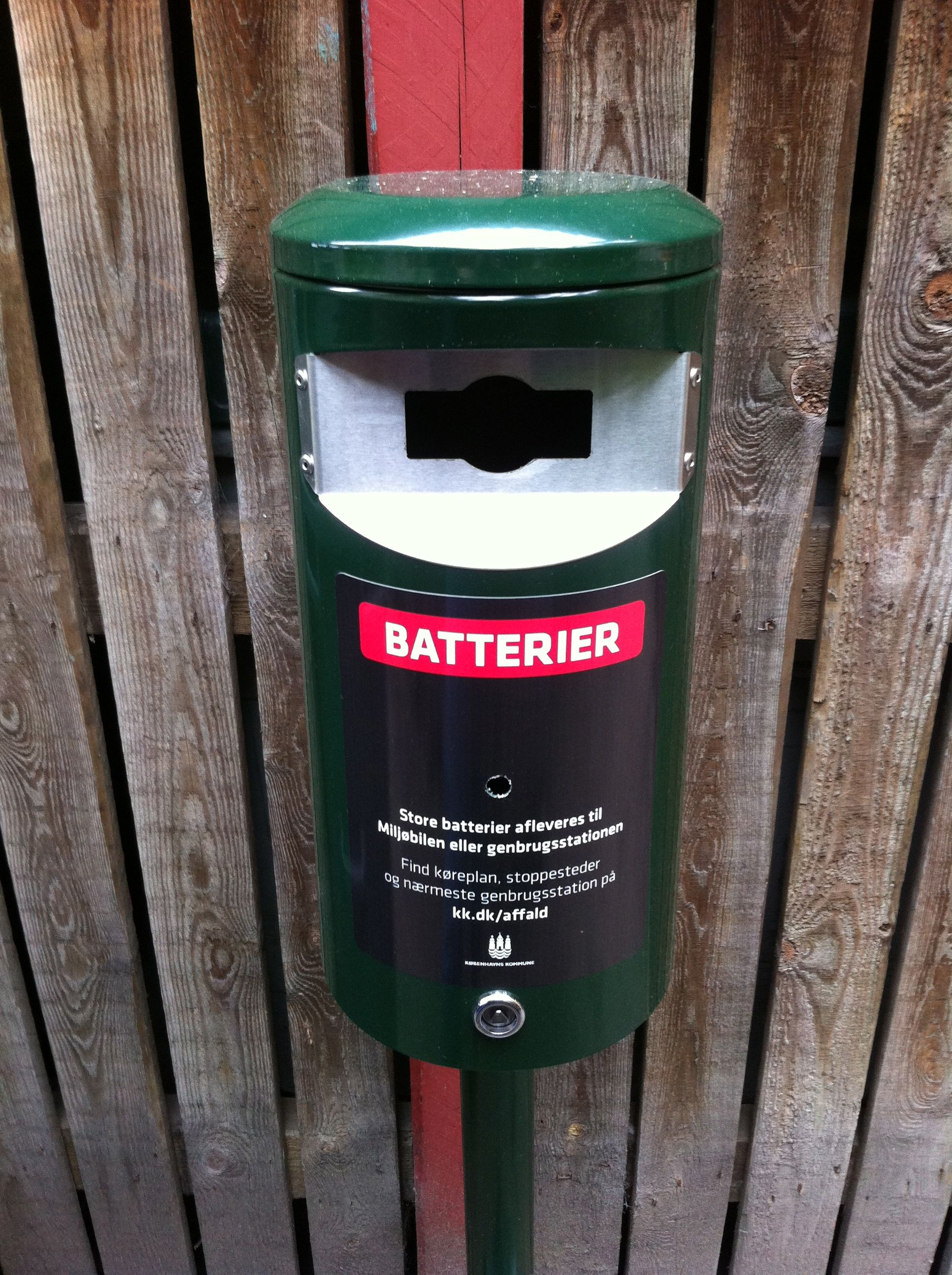 Batterier affald