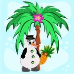Palmetræ og pingvin (sommer)