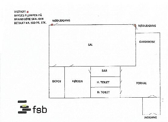 Reglement for Bispeparkens beboerhus - Tegning over beboerhuset