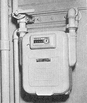 Gasmåler type to-rørs.