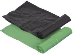 Affaldsposer i sort og grøn